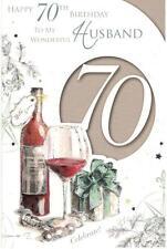 70th Birthday Card For Husband. Happy 70th Birthday To My Wonderful Husband.