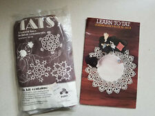 Tatsy Christmas Ornaments Tatting Kit 305 + Learn to Tat Book 240-A and Shuttle