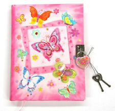 Girls Lockable Diary - Butterfly Diary - New Girls Diary with Lock Butterflies