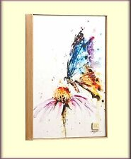 GARDEN VISITOR BUTTERFLY PRINT ON CANVAS WALL ART BY DEAN CROUSER FREE SHIPPING