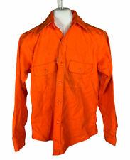 Vintage Sport King Button Up Orange Hunter Safety Shirt XL
