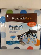 Breathable Baby Mesh Crib Liner Safer Than A Bumper Helps Prevent Suffocation