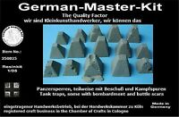 Resin Panzersperren Set 350025, 1:35 Resin, 1:35, Diorama Zubehör GMK II