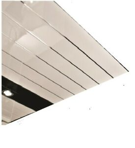 Ceiling Panels White Silver Edge  250mm x 2.7m x 4pk