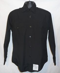 Black Shirt US Navy Dress Blues High Military Quality 19x38