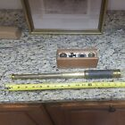 Antique French 3 Draw Ship's  Telescope With Extra Box Of Lenses & Components