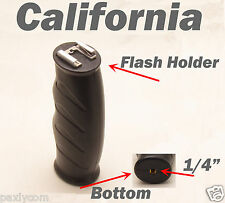 "Flash LED Light Bracket Hot Cold Shoe Mount Handle Grip with 1/4"" Screw Hole 1/4"