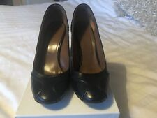 Womens Hobbs Black Leather Court Shoes Size 4