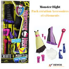 Mattel Monster High Poupée Pack Création + Accessoires et Vêtements Couleur High