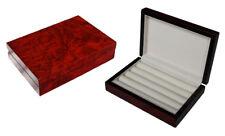 Hand Made Burl Wooden Luxury Case Cufflinks Ring Tie clip Storage Display Box A