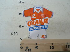 STICKER,DECAL LOTTO HOLLAND ORANJE SUPPORTER KNVB VOETBAL SOCCER FOOTBALL