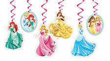Disney Princess Hanging Decorations 6PK AWE2096 Party Supplies