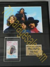 """Pink Floyd """" The Wall 1980 Backstage Pass"""" Framed Item"""