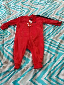 PUMA Baby Boy 1pc Long Sleeve Red & Black Outfit Size 3/6 months new