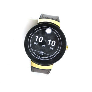 Movado 3660021 Bold Connect Series 46MM Leather Silicone Band SmartWatch Watch