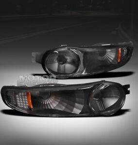 00-06 GMC YUKON XL/01+ SIERRA DENALI BUMPER SIGNAL LIGHTS BLACK/AMBER LEFT+RIGHT