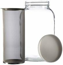 Gallon Cold Brew Coffee Maker. 1 Gallon Mason Jar with Stainless Steel Filter