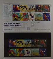 2012 ROYAL MAIL PRESENTATION FOLDER OLYMPIC AND PARALYMPIC AND 2 FDC LOT 388*