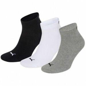 3,6,9,12 Paar Puma, A.27108001, QUARTER Socken,grey/white/black, 39-42 und 43-46