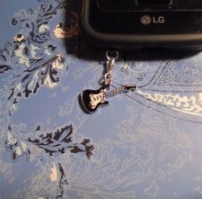 Rhinestone Guitar Cell Phone Clip Charm~Dust Cover~All Phones~Free Ship