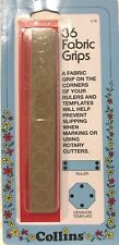 Collins  - Adhesive Sandpaper Fabric Grips for Rulers and Templates - 36 Pack