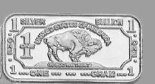 10 x 1 Gramm 999 Silber Silberbarren Feinsilber Wildlife Bison American Buffalo