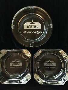 3 Vintage Howard Johnson's Ashtrays