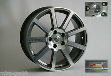 4x AKTION MTM Bimoto Felge 8x18 ET 35 Titanpoliert 5x100 57,1 Alu Audi VW Satz