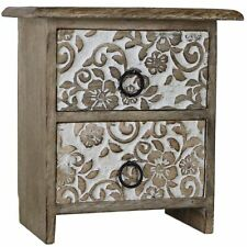 Floral Set of Wooden Drawers Wood Box Boxes Jewelry Jewellery Rustic Decorative