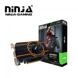 NEW Ninja NVIDIA GeForce GTX 750Ti 4GB DDR5 128BIT PCI-E Video Card DVI VGA HDMI