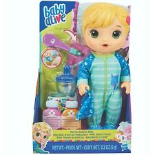 Hasbro Baby Alive Mix My Medicine baby Doll with Kitty-Cat Pyjamas & Blonde Hair