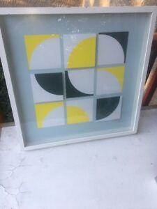 Vintage Lola Frazer Ikea Olunda Modern Pop Op Art Shadow Box Framed Wall 3D 1999