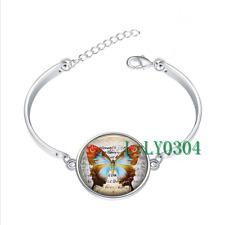 Butterfly Journal glass cabochon Tibet silver bangle bracelets wholesale