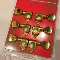 GROVER 102GK GUITAR TUNERS GOLD KEYSTONE BUTTON 3x3 Free Shipping from JAPAN