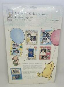 Classic Winnie Pooh Scrapbook page kit party birthday baby celebration 8.5 x 11
