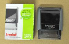 Tampon Encreur TRODAT Printy 4.0 4911 DUPLICATA Noir Ink Stamper 38x14mm