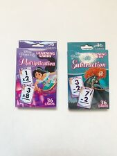 Disney Princess Learning Flash Cards Multiplication Subtraction 36 Cards Each