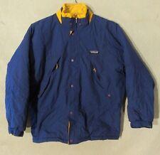 V6925 Patagonia Youth Kids' 12 Blue Full Zip Poly-Fill Winter Jacket No Hood