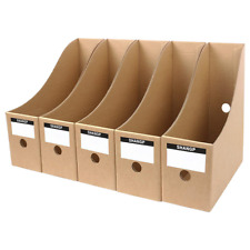 Myeussn File Magazine Holder Cardboard Book Rack Lever Arch Folder Divider Docum