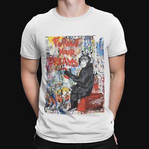 Banksy Graffiti Monkey T-Shirt - Funny Retro Cool Film Movie Gift Politics Xmas