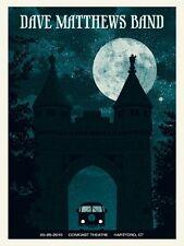 Dave Matthews Band Poster 2010 Hartford CT N2 Signed & Numbered #/550 Rare!!
