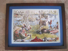 Carl Larsson, Catching Crayfish Sweden 1890-1899 12 x 16, framed matted print