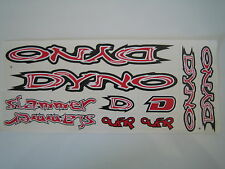 DYNO Slammer Stickers Red, White & Black.