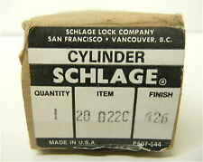 Schlage 20-022C Classic Rim Cylinder w/ Key For  Exit Devices Aluminum Doors