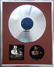 """Elvis Presley The Early gerahmte CD Cover +12"""" Vinyl goldene/platin Schallplatte"""