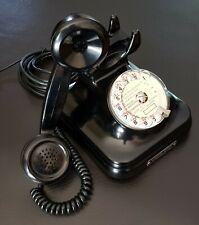 Superbe ancien Téléphone CGCT noir bakélite ☎️ cadran converti box internet