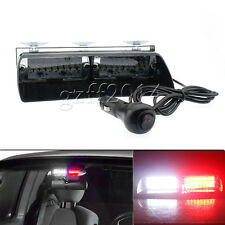 16LED Red+White Car Police Strobe Light Dash Emergency 18 Flashing Lights set