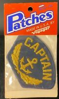 Vintage Captain Patch USA Made NOS By Voyager