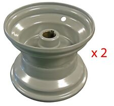 "New! Set of Two 6"" x 5-1/4"" Rim Rear 1"" Inch Bore Wheel Go Kart Parts Cart"