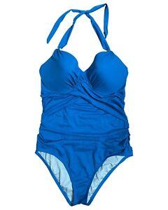 NEW VICTORIA'S SECRET The Unforgetable One Piece Swimsuit Blue 38 C